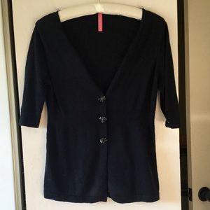 *Prom* Charlotte Tarantola Bl Cardigan Sweater S/M